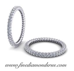Round Brilliant Diamond Full Eternity Wedding Ring Gold & Platinum at Fine Diamonds R Us