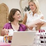 Women In Home Office Small
