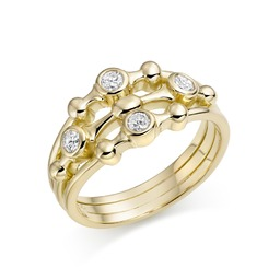Avanti diamond bubbles ring