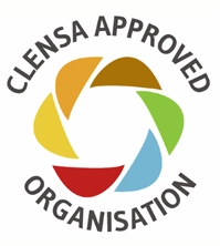 Logo Clensa Approved. To book your professional clean call: 01392 202 779.