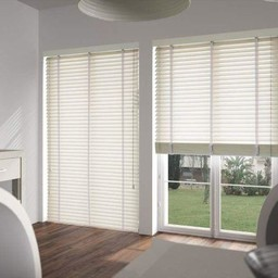 Antique White Wooden Venetian Blinds With Tapes