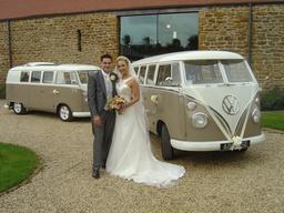 Vw split screen wedding campervans Northampton