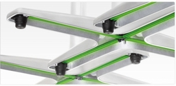 Eliminate wobbly tables with our range of table bases that include Flat Technology self levelling and stabilising system