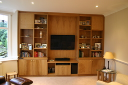 "Oak ""Family Room"" Display Cabinet"