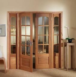 PH6-DP Oak Internal Norbury French Door Set with Demi Panels