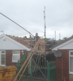Changeing trusses ( fire damage )