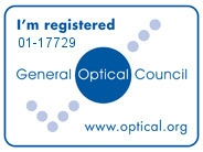 We are fully registered with the General Optical Council