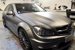 Mercedes C63 AMG gun metal grey,car wrap london