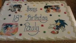 "26 X 16"" Birthday Cake"