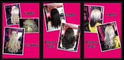 photos of hair extensions before and after