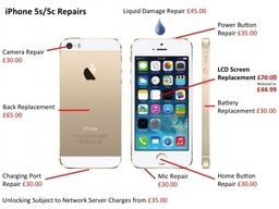 iPhone 5s and 5c Repairs