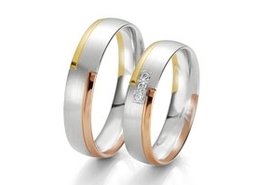 Wedding Rings with three Colours