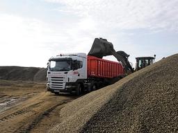 Gravel London Rock lorry