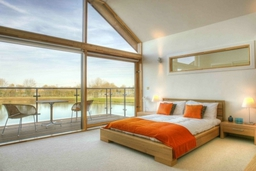 Master Bedroom in waterfront property