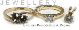 Old Diamond reset into new handmade ring + Pendant