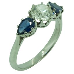 Vintage Sapphire and Diamond Ring, Nicholsons