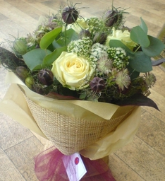 Hessian Wrapped Hand Tied Bouquet