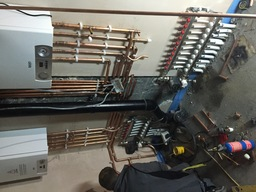 Duel boilers with underfloor heating