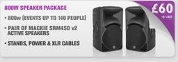 800w Speaker Package