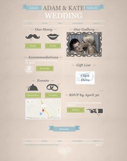 Wedding Announcement Website