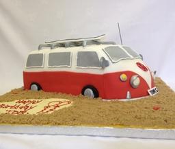 Vw Campervan Themed Cake