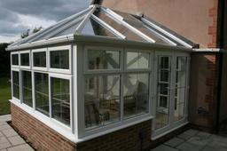 Mr & Mrs Rankin conservatory Oldbury on Severn. A really nice addition to our house. The conservatory is south facing but with the built in features it really performs very well. The conservatory roof and frames have Pilkington Active glass and two fully
