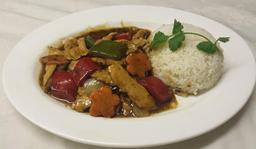Chicken in Black Bean Sauce & Rice