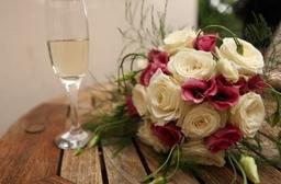 Bride, Groom, Champagne, Wedding, Flowers, Hemel Hempstead, Gay Wedding, UK, Wedding Photographer Buckinghamshire