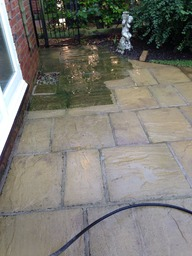 Patios, Indian stone and slabs cleaned