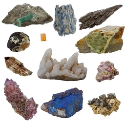 Minerals and Crystals, Emeralds, Kyanite, Azurite, Brandbergs,