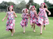 Bridesmaids having fun
