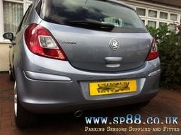 Vauxhall Corsa Lightning Silver Rear Parking Sensors