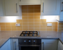Kitchen Wall With Ceramic Tiles
