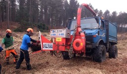 Forestry work with our Unimog