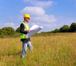 Land Agent assessing a new opporunity