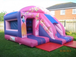 Disney princess 13ft x 18ft box jump and slide castle