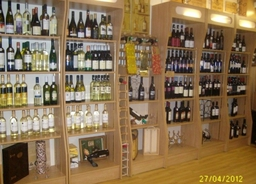 Some of the wine available at The Wine Cellars
