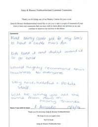 Customer Comments About Jump & Bounce