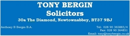 Tony Bergin Solicitors Business Card