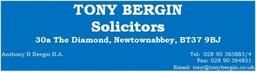 Tony Bergin Solicitors Business Card
