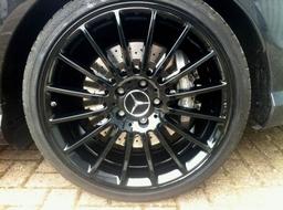 Alloy Wheel Refurbishment Horsham Gloss Black Merc Amg