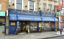 Attenborough Jewellers & Pawnbrokers Shop Front