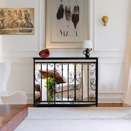 Mirror radiator covers and console tables