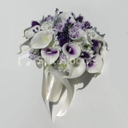 Vermeer Picasso Lily and Thistle Bridal Bouquet