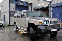 Hummer H2 matt black wrap by eurotint.co.uk