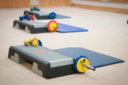 fitness class setup