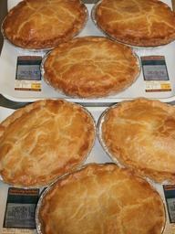 Homemade farmhouse meat pies