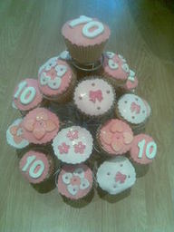 A special offer of 24 cupcakes for £35 including 12 with photoicing.