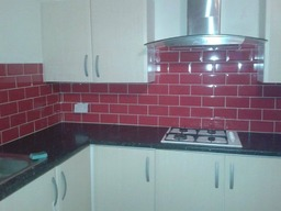 Kitchen fitted and tiled