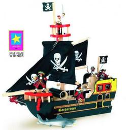 For our younger adventurers comes pirate ships that require some assembly with adult supervision.There is a full range of pirates and scury knaves that roam the seven seas on these ocean going ships.